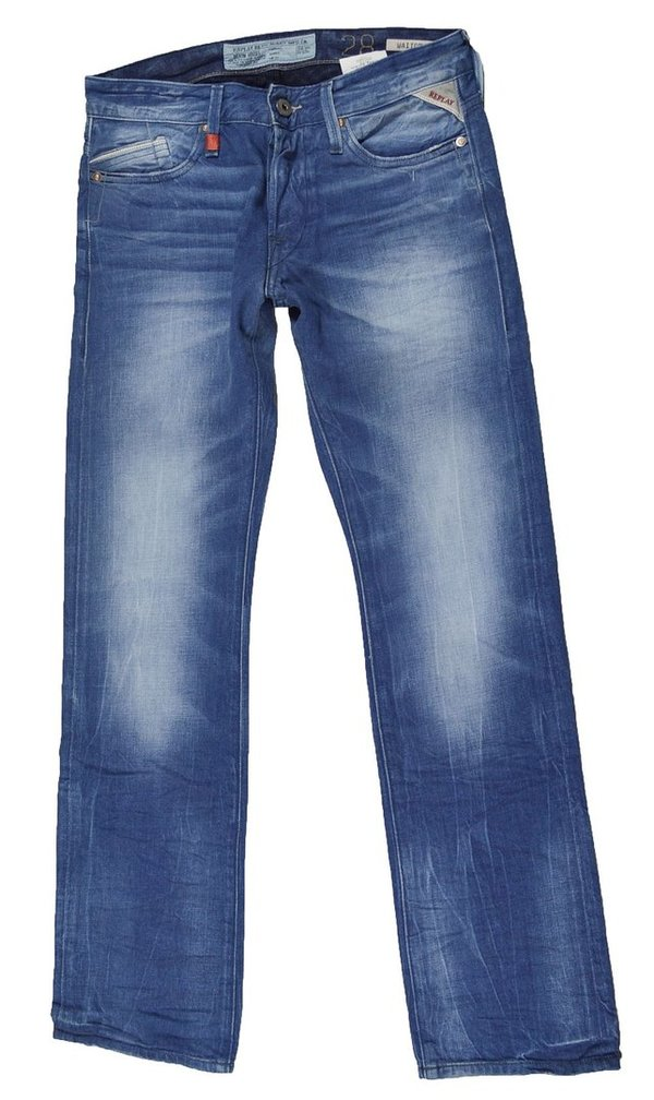 Replay Waitom M983 Herren Jeans Hose Regular Slim Replay Jeans Hosen 7-1336